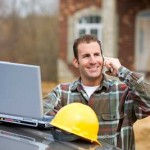 image of contractor on phone