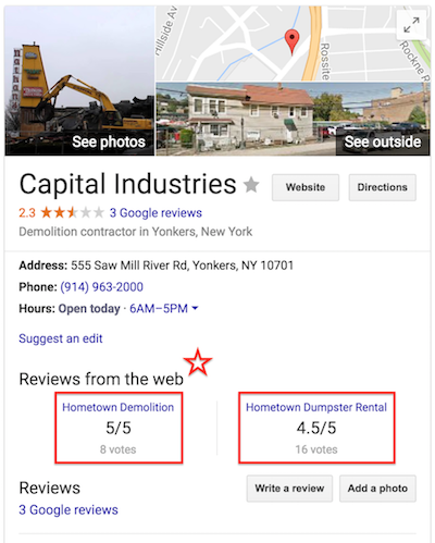 Capital Industries Google Maps Example